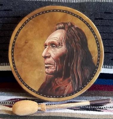 Nez Perce Painting - Nez Perce Drum by Stu Braks