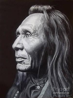 Nez Perce Painting - Nez Perce Indian by Stu Braks
