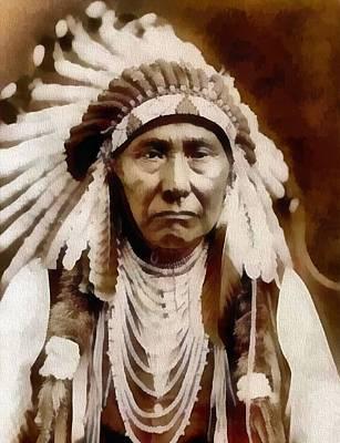 Nez Perce Native American Chief Art Print by Dan Sproul