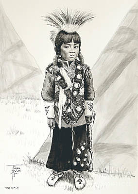 Painting - Nez Perce Prince by Art By - Ti   Tolpo Bader