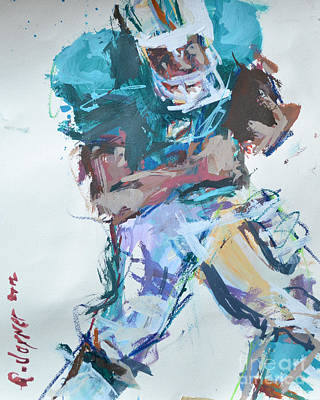 Nfl Football Painting Art Print by Robert Joyner