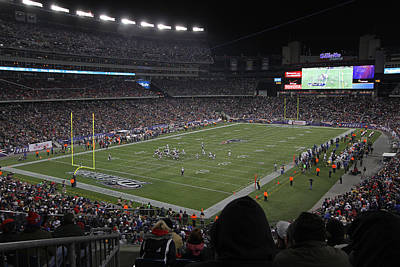 Gillette Stadium Photograph - Nfl Patriots And Tom Brady Showtime by Juergen Roth