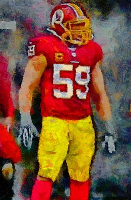 Digital Art - Nfl Tough by Carrie OBrien Sibley