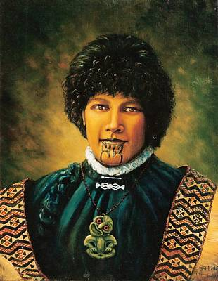 Painting - Ngapawa Nz Maori by Peter Jean Caley