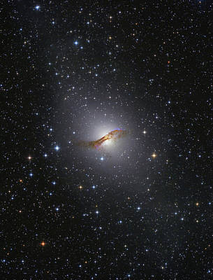 Jet Star Photograph - Ngc 5128 Radio Galaxy by Lorand Fenyes