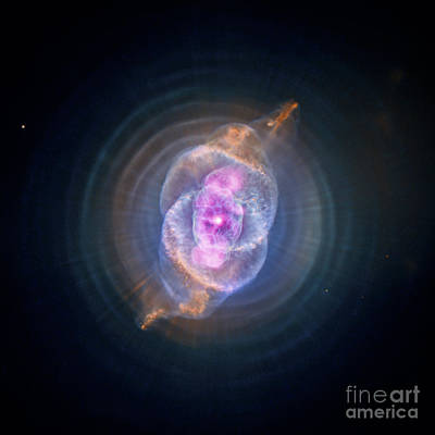 Heavenly Body Photograph - Ngc 6543, Cats Eye Nebula, Composite by Science Source