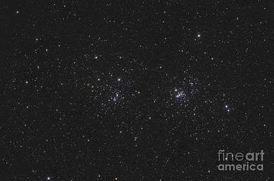 Ngc 884 And Ngc 869, The Double Cluster Art Print by Reinhold Wittich