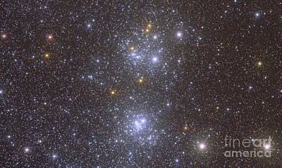 Ngc 884 And Ngc 869, The Double Cluster Art Print by Roberto Colombari