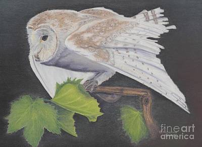Art Print featuring the painting Nght Owl by Laurianna Taylor