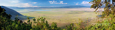 Perspective Photograph - Ngorongoro Crater In Tanzania Africa by Michal Bednarek