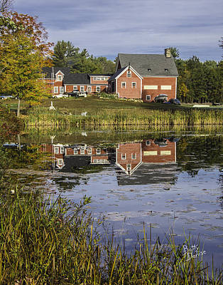 Art Print featuring the photograph Nh Farm Reflection by Betty Denise