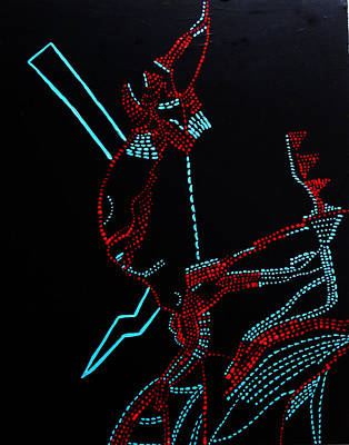 Dinka Corset Painting - Nhialic - Deity - South Sudan by Gloria Ssali