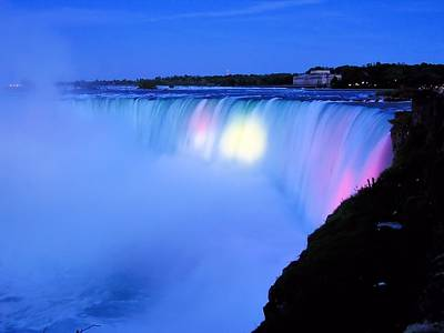 Photograph - Niagara At Night by Ron Grafe