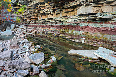 Photograph - Niagara Escarpment Rocks by Charline Xia