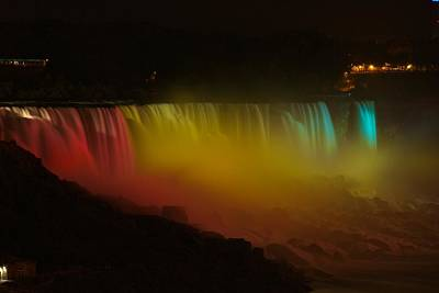 Art Print featuring the photograph Niagara Falls A Glow by Dave Files