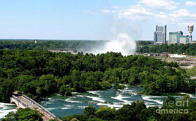 Photograph - Niagara Falls Aerial View 1 by Rose Santuci-Sofranko