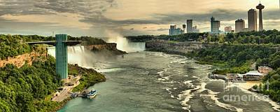 Photograph - Niagara Falls Afternoon Panorama by Adam Jewell