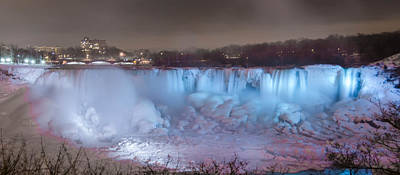 Photograph - Niagara Falls At Night  7d08976 by Guy Whiteley