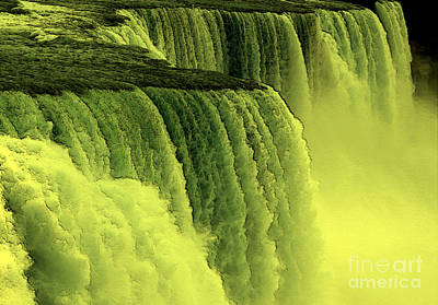 Waterfalls Photograph - Niagara Falls Closeup Hot Wax Effect by Rose Santuci-Sofranko