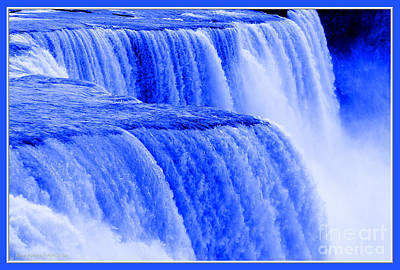 Photograph - Niagara Falls Closeup In Blue by Rose Santuci-Sofranko