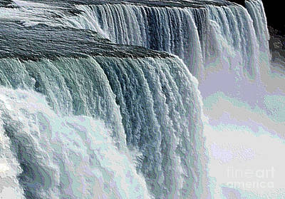 Photograph - Niagara Falls Closeup Topography Effect by Rose Santuci-Sofranko