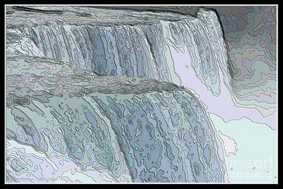 Photograph - Niagara Falls Contour Drawing Effect by Rose Santuci-Sofranko