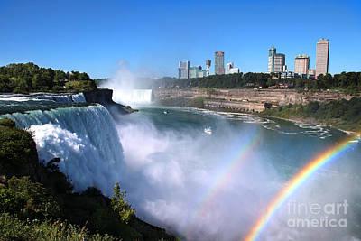 Niagara Falls Double Rainbow Art Print