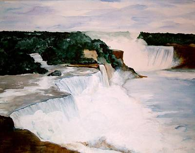 Art Print featuring the painting Niagara Falls by Ellen Canfield