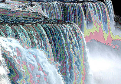 Photograph - Niagara Falls Enameled Effect by Rose Santuci-Sofranko