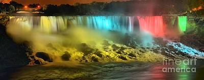 Photograph - Niagara Falls Evening Panorama by Adam Jewell