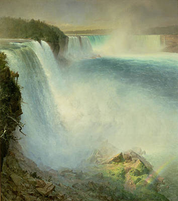 1867 Painting - Niagara Falls, From The American Side, 1867 by Frederic Edwin Church
