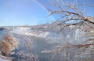 Photograph - Niagara Falls Frost Rainbow by Charline Xia