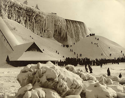 Niagara Falls Frozen In Winter, 1885 Art Print by Getty Research Institute