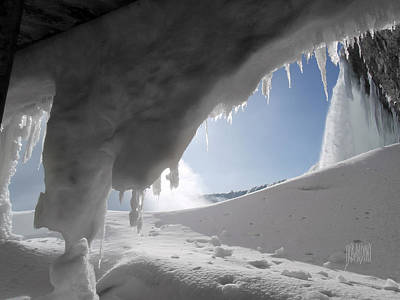 Photograph - Niagara Falls Frozen by J R Baldini