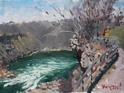 Gorge Painting - Niagara Falls Gorge by Ylli Haruni