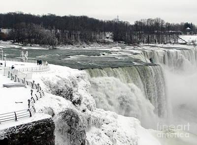 Lucille Ball - Niagara Falls in Winter 0f 2014 Partially Frozen over by Rose Santuci-Sofranko