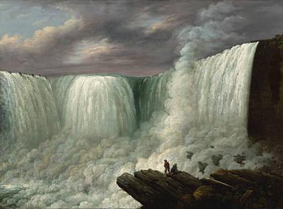 New York State Painting - Niagara Falls by Joseph Otis Minott