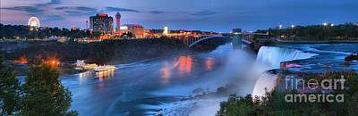 Photograph - Niagara Falls Prospect Point Panorama by Adam Jewell