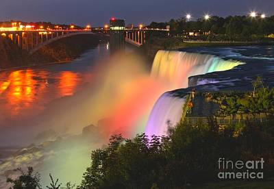 Photograph - Niagara Falls Prospect Point Rainbow by Adam Jewell