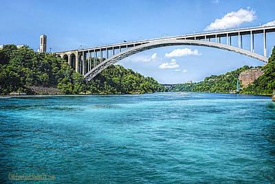 Photograph - Niagara Falls Rainbow Bridge by LeeAnn McLaneGoetz McLaneGoetzStudioLLCcom