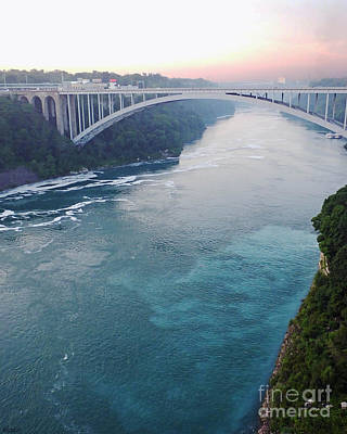 Photograph - Niagara Falls Rainbow Bridge by Lizi Beard-Ward