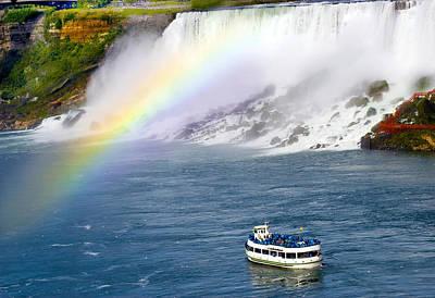 Niagara Falls Rainbow Art Print
