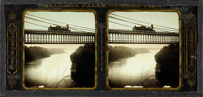 Suspension Drawing - Niagara Falls, Summer View, Suspension Bridge by Litz Collection