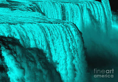 Photograph - Niagara Falls Underwater Chrome Effect by Rose Santuci-Sofranko