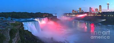 Photograph - Niagara Falls Usa Dusk Panorama by Adam Jewell