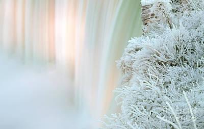 Ice Festival Photograph - Niagara Falls Winter Twillight by Charline Xia