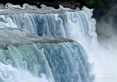 Photograph - Niagara Falls With Curlicue Effect by Rose Santuci-Sofranko