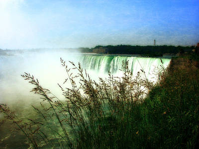 Photograph - Niagara Falls With Grasses by Michelle Calkins