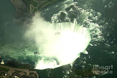 Photograph - Niagara From The Air by Brenda Kean