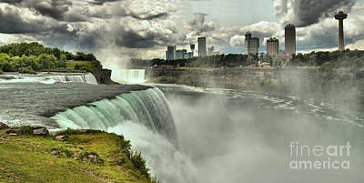 Photograph - Niagara Panorama From The Us Tower by Adam Jewell
